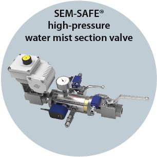 SEM-SAFE high-pressure water mist section valve